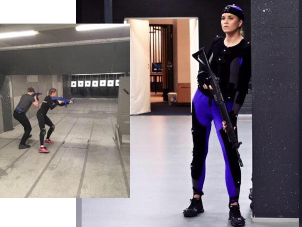Stunttyössä harjoitellaan aseiden oikeanlaista käyttöä.