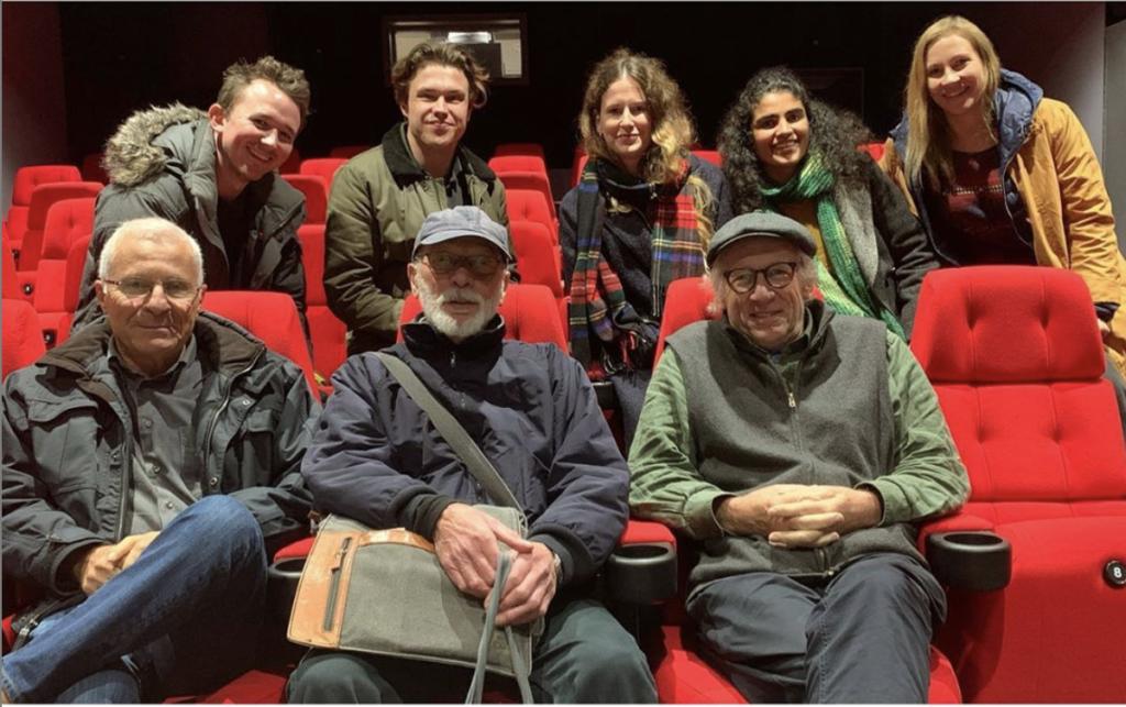 Elokuvateatterin penkeillä istuvat Ivan Strasburg BSC, Chris Menges BSC sekä professori Oliver Stapleton BSC. Kuva: Duncan Bruce