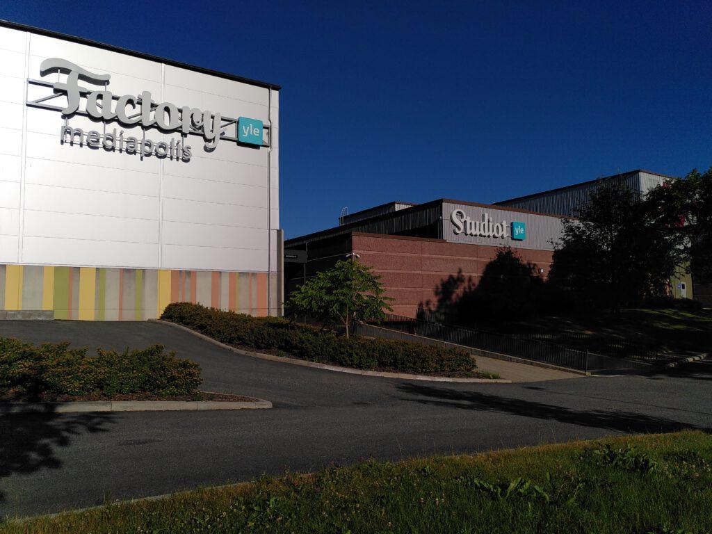 Ylen studiot ja Mediapoliksen rakennus Tampereella.